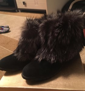 Ботинки из чернобурки