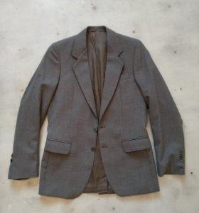 Пиджак серый мужской (шерстяной)
