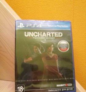 Новый запечатанный диск для Ps4 uncharted
