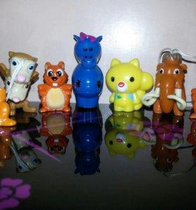 Киндер игрушки Зверьки