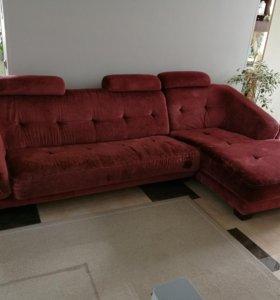 угловой диван с канапе