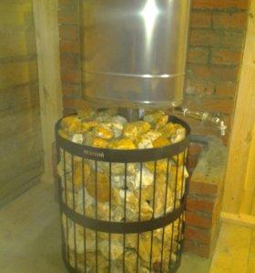 чугунная печь для бани Везувий Легенда