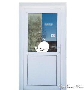 Дверь металлопластик