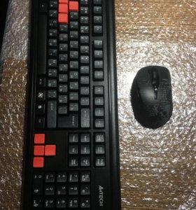 Комплект беспроводной. Клавиатура и мышка