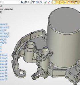 Создание 3d модели по чертежу или с оригинала