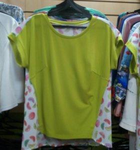 Блуза, спинка-100%хлопок, р50,52