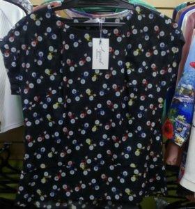 Блуза, 100%хлопок, р.50,52