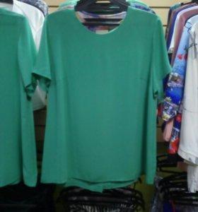 Блуза, по спинке пуговки, р.52,55