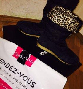 Jog dog зимние чёрные сапоги дутики бутики ботинки