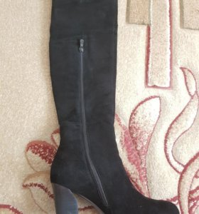 Обувь ботфорты замшевые
