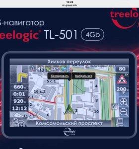 навигатор. навигатор Treelogic TL-501 как