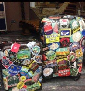 Наклейки для чемодана, из гостиниц 50-70 годов.