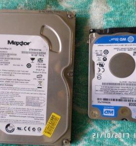 жосткие диски 2 шт.500гб и 80 гб