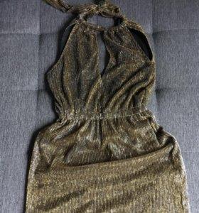 Платье H&M коктейльное блестящее