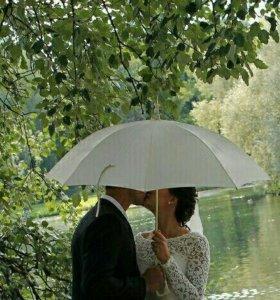 Зонт для свадебной фотосессии.