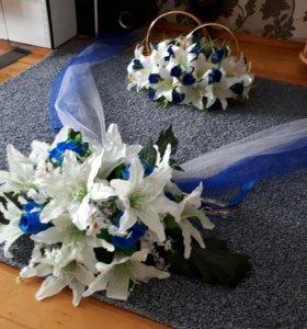 Комплект свадебных украшений на машину