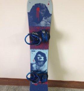 Сноуборд Ride kink + крепы Ride kx