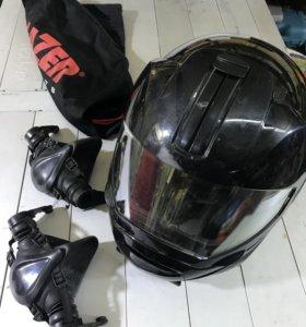 Lazer Шлем снегоходный, летом для квадро, мото.