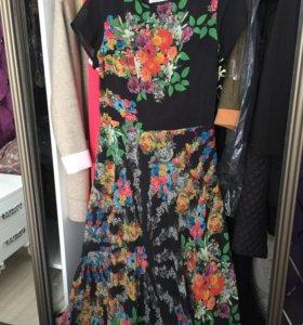 Платье длинное шифоновое