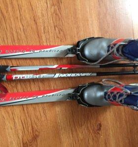Беговые лыжи детские с ботинками