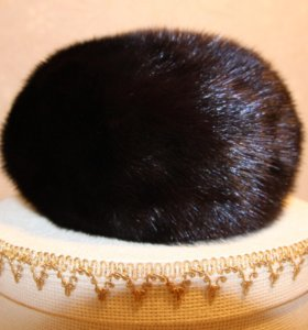 Берет шапка норка шоколад