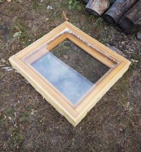 Окно деревянное 950*870