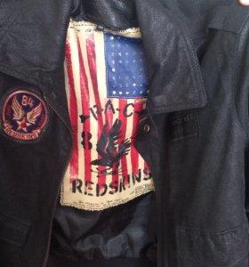 Кожаная куртка #REDSKINS
