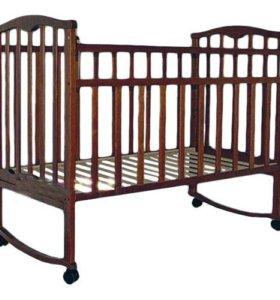кроватка золушка 1 колесо/качалка