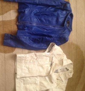 Кожаные куртки, жилетки