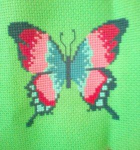 Бабочка крестиком