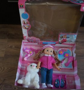 Кукла с кошечкой на бат.