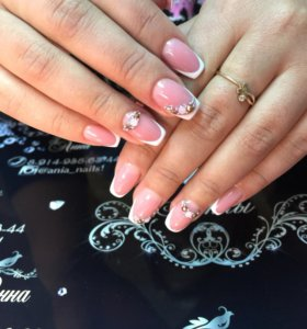 Маникюр гель-лак наращивание ногтей 💅
