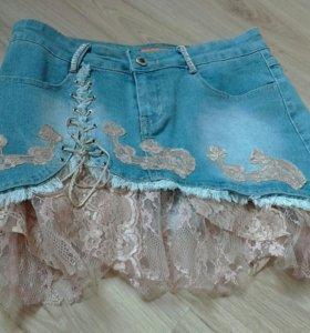 Юбка джинсовая(новая)👍