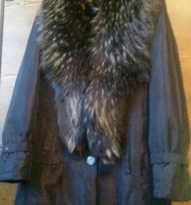 Пальто из плащевки.