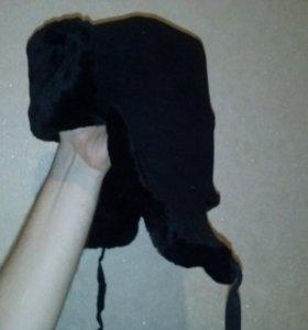Новая шапка тканевая на овчине