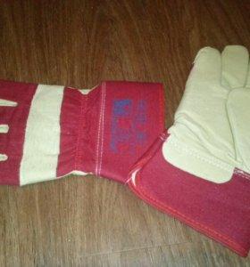 Новые Перчатки утепленные комбинированные