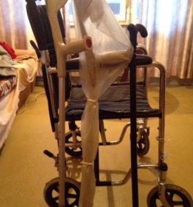 Кресло-каталка Titan LY-800-808 + костыли и трость