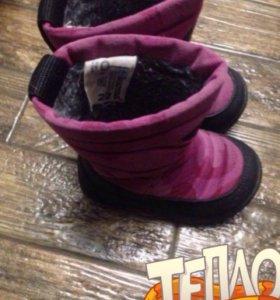 Ботинки зимние 22 размера