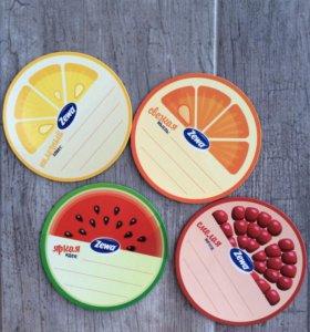 4 магнита-фрукта