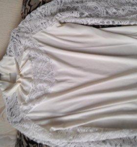 Блузка с ажурными рукавами 42-44