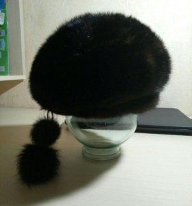 шапка норковая б/у