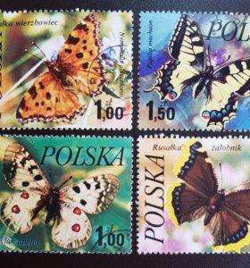 Набор из 4-х марок из Польши 1977 года