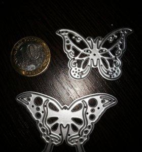 Вырубка в форме бабочки. Новая