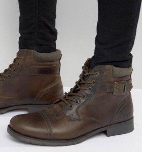 ботинки челси Asos натуральная кожа