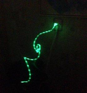 Провод который светится в темноте micro usb