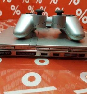 Sony PlayStation 2 Slim Silver + игра
