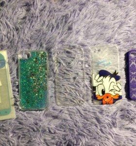 Чехлы на айфон 6/6s и защитное стекло на Samsung
