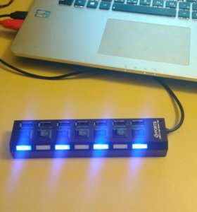 USB хаб на 7 портов с подсветкой