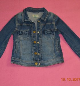 Джинсовый пиджак для девочки