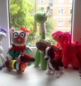 Вязаные игрушки, собачки, пони и многое другое